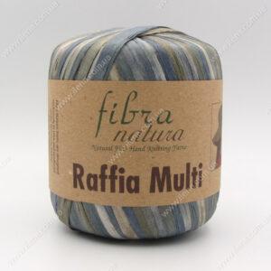 Пряжа Fibranatura Raffia Multi серо-голубой 117-09