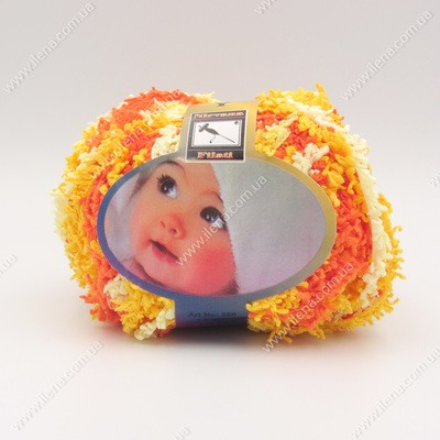 Пряжа Baby Mahra Filati желто-оранжевый 550
