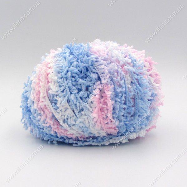 Пряжа Baby Mahra Filati розово-голубой b-34