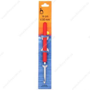 Крючок для вязания Pony 46606 с ручкой 4.5 мм 14 см