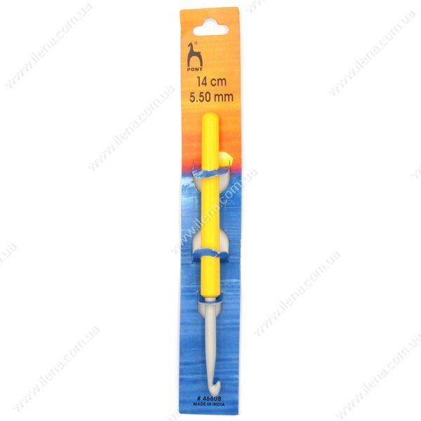 Крючок для вязания Pony 46608 с ручкой 5.5 мм 14 см