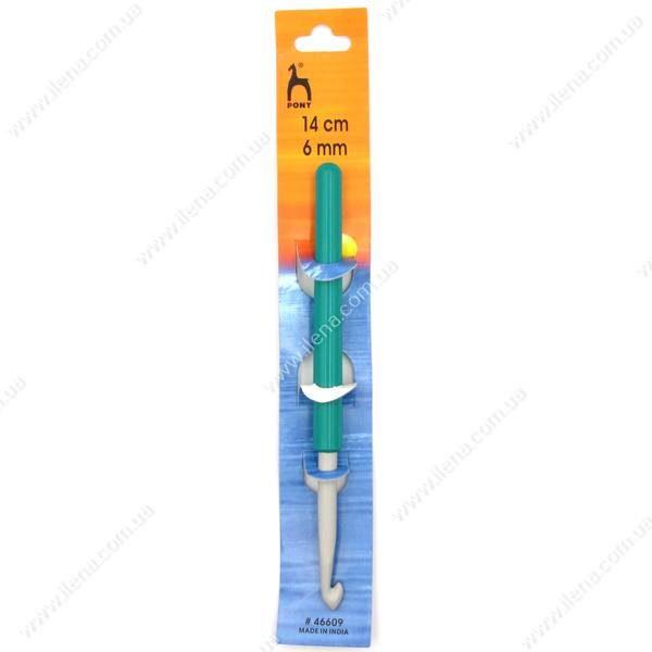 Крючок для вязания Pony 46609 с ручкой 6 мм 14 см
