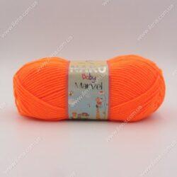 Пряжа Nako Baby Marvel неоновый оранжевый 4566 (9006)