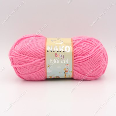Пряжа Nako Baby Marvel розовый 6837