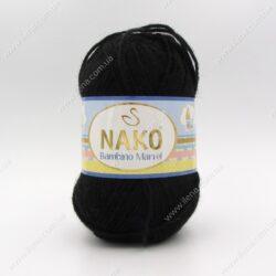 Пряжа Nako Bambino Marvel черный 9002