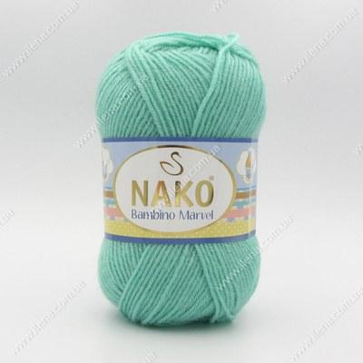 Пряжа Nako Bambino Marvel бирюза 9037(2867)