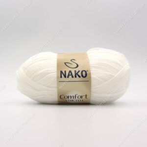 Пряжа Nako Comfort Stretch белый 208