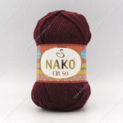 Пряжа Nako Elit 50 бордо 2302