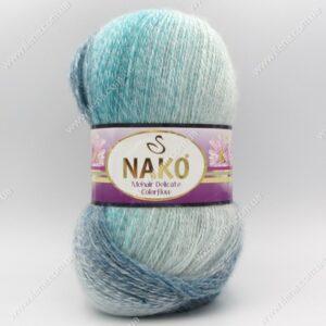 Пряжа Nako Mohair Delicate Colorflow бирюза 28080