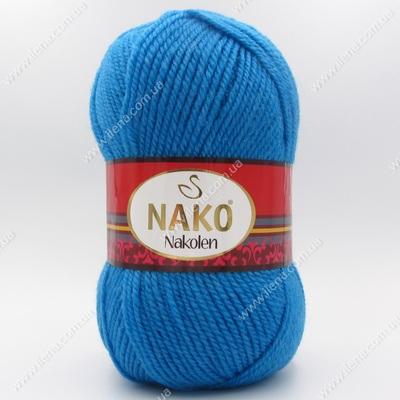 Пряжа Nako Nakolen голубая бирюза 5052