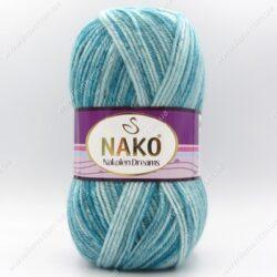 Пряжа Nako Nakolen Dreams бирюзовый 31442