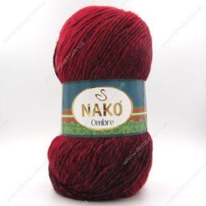 Пряжа Nako Ombre бордо 20312