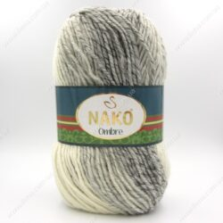 Пряжа Nako Ombre серый 20313