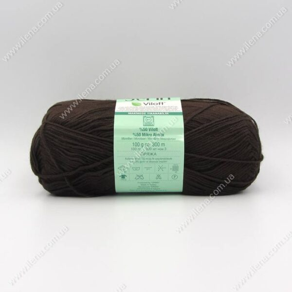 Пряжа Nako Serin Viloft шоколад 5195