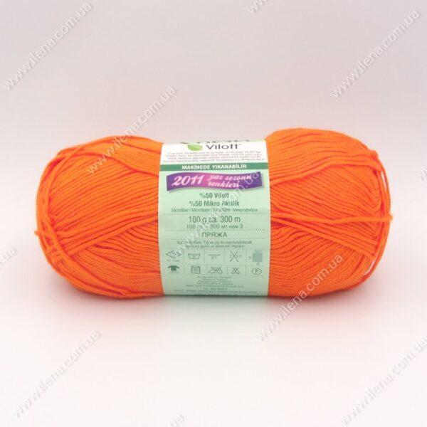 Пряжа Nako Serin Viloft оранжевый 6733