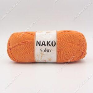 Пряжа Nako Solare оранжевый 966