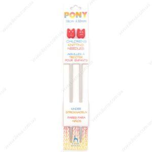 Спицы прямые детские для вязания Pony 61610 4.5 мм 18 см