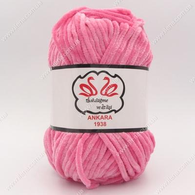 Пряжа плюшевая Анкара розовый