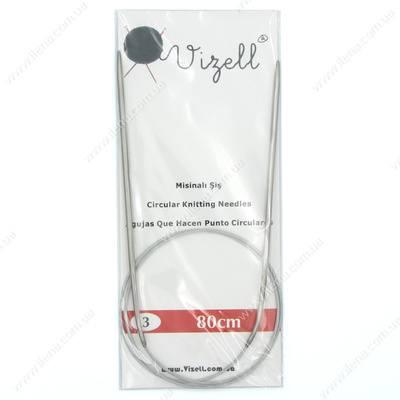 Спицы круговые на тросике Vizell 3 мм 80 см