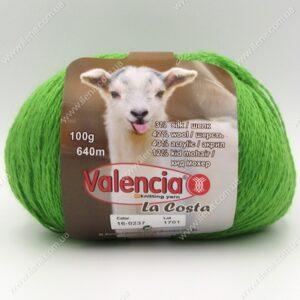 Пряжа Valencia La Costa зеленый 0237