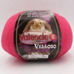 Пряжа Valencia Velloso (кролик) малиновый 218