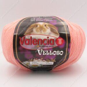 Пряжа Valencia Velloso (кролик) персик 270