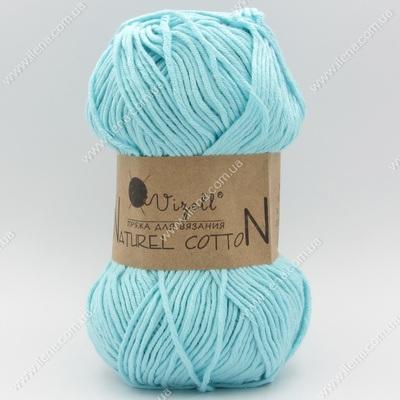 Пряжа Vizell Naturel Cotton мятно-голубой