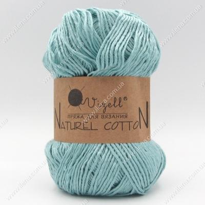 Пряжа Vizell Naturel Cotton бирюзовый перламутр