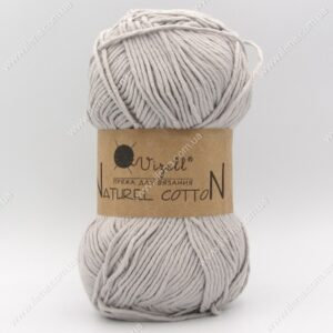Пряжа Vizell Naturel Cotton серый