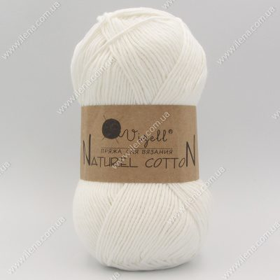 Пряжа Vizell Naturel Cotton белый