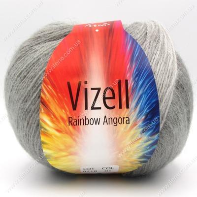 Пряжа Vizell Rainbow Angora  01