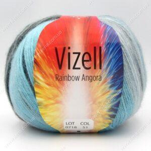 Пряжа Vizell Rainbow Angora 51