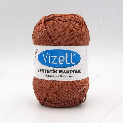 Пряжа Vizell Makrome коричневый