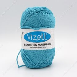 Пряжа Vizell Makrome голубая бирюза