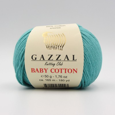 Пряжа Gazzal Baby Cotton бирюза 3426