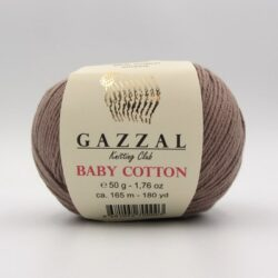 Пряжа Gazzal Baby Cotton  мокко 3434