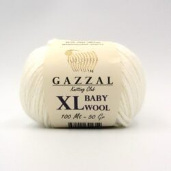 Пряжа Gazzal Baby Wool 801 XL белый
