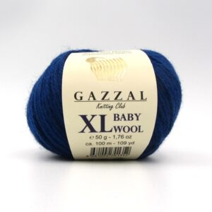 Пряжа Gazzal Baby Wool 802 XL темно-синий
