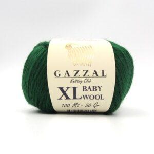 Пряжа Gazzal Baby Wool 814 XL темно-зеленый