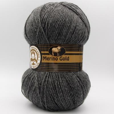 Пряжа Madame Tricote Merino Gold 009 темно-серый