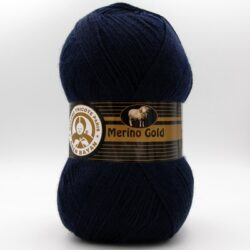 Пряжа Madame Tricote Merino Gold 019 темно-синий