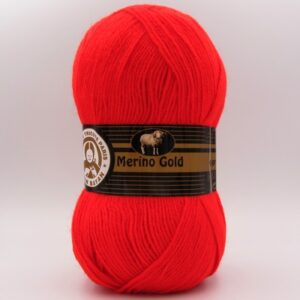 Пряжа Madame Tricote Merino Gold 032 красный алый