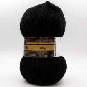 Пряжа Madame Tricote Merino Gold 999 черный