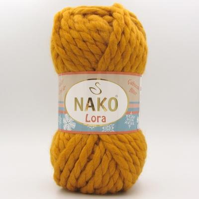 Пряжа Nako Lora горчица 1043