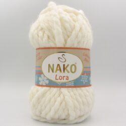 Пряжа Nako Lora молочный 300