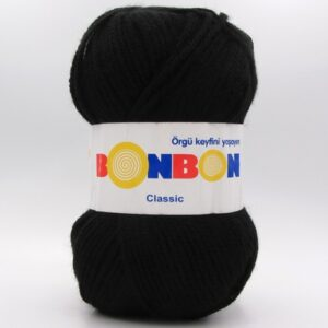 Пряжа Nako Bonbon Classic черный 98206