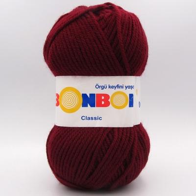 Пряжа Nako Bonbon Classic бордо 98220