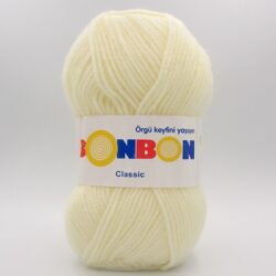 Пряжа Nako Bonbon Classic молочный 98223