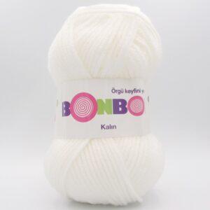 Пряжа Nako Bonbon Kalin 98200 белый