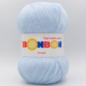 Пряжа Nako Bonbon Kristal голубой 98328